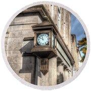Antique Clock  Edenton North Carolina Round Beach Towel