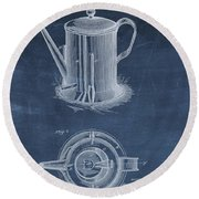 Antique Coffee Pot Patent Round Beach Towel