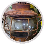 Antique Lantern Round Beach Towel