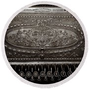 Antique Ncr - Sepia Round Beach Towel