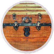 Antique Trunk Round Beach Towel