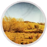 Antique Weathered Countryside Round Beach Towel