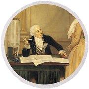 Antoine-laurent Lavoisier Round Beach Towel