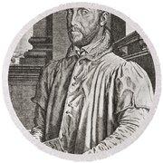 Antoine Perrenot De Granvelle, 1517 To Round Beach Towel
