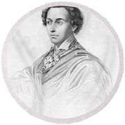 Antonin Car�me (1783-1833) Round Beach Towel