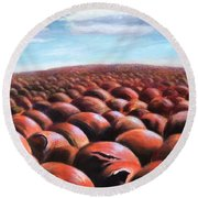 Ant's Eye View Of Sand Round Beach Towel