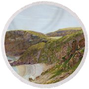 Antsey's Cove South Devon Round Beach Towel