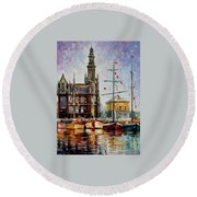 Antwerp - Belgium Round Beach Towel