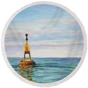 Anvers A Chausey Round Beach Towel