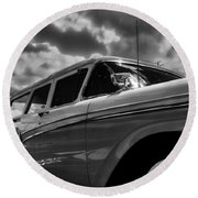 Any Ford In A Storm Round Beach Towel