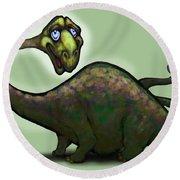 Apatosaurus Brontosaurus Round Beach Towel