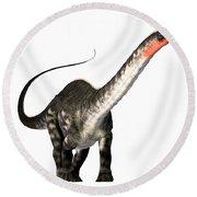 Apatosaurus Profile Round Beach Towel