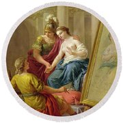Apelles In Love With The Mistress Of Alexander Round Beach Towel