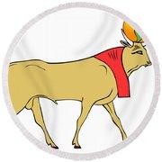 Apis - Egyptian Sacred Bull Round Beach Towel