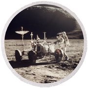 Apollo 15, 1971 Round Beach Towel
