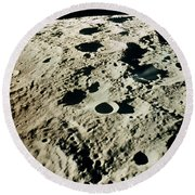 Apollo 15: Moon, 1971 Round Beach Towel