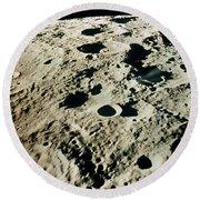 Apollo 15: Moon, 1971 Round Beach Towel