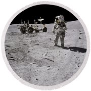 Apollo 16 Astronaut Collects Samples Round Beach Towel