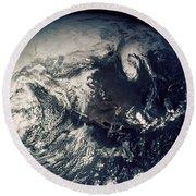 Apollo 16: Earth Round Beach Towel