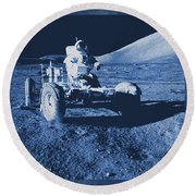Apollo 17 Lunar Rover - Nasa Round Beach Towel