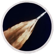 Apollo 6 Spacecraft Leaves A Fiery Round Beach Towel