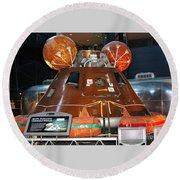 Apollo Boilerplate Command Module Round Beach Towel