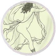 Apollo Pursuing Daphne Round Beach Towel
