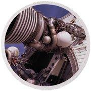 Apollo Rocket Engine Round Beach Towel