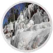 Apostle Islands Cliffs Round Beach Towel