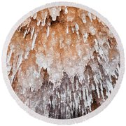 Apostle Islands Icicle Cave Round Beach Towel