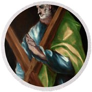 Apostle Saint Andrew Round Beach Towel