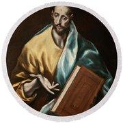 Apostle Saint James The Less Round Beach Towel