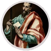 Apostle Saint Paul Round Beach Towel