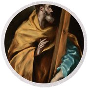 Apostle Saint Philip Round Beach Towel