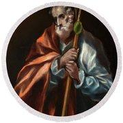 Apostle Saint Thaddeus, Jude Round Beach Towel