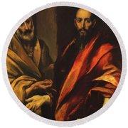 Apostles Peter And Paul 1592 Round Beach Towel