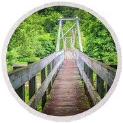Appalachian Bridge Round Beach Towel