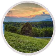 Appalachian Evening Round Beach Towel