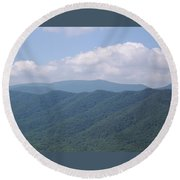 Appalachian Forest Ridge Round Beach Towel