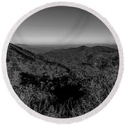 Appalachian Mountains From Mount Mitchell, The Highest Point In  Round Beach Towel