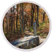 Appalachian Trail In Shenandoah National Park Round Beach Towel