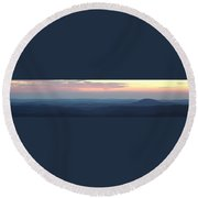 Appalachian Twilight Panorama Round Beach Towel
