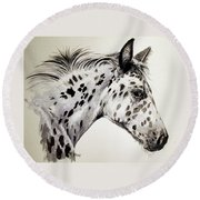 Appaloosa Round Beach Towel