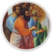 Appearance Of Christ To The Apostles Fragment 1311 Round Beach Towel