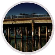 Appian Way Bridge Round Beach Towel