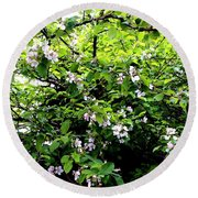 Apple Blossom Digital Painting Round Beach Towel