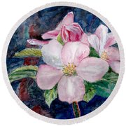 Apple Blossom - Painting Round Beach Towel