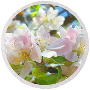 Apple Blossoms Art Prints Spring Trees Baslee Troutman Round Beach Towel