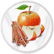 Apple Cinnamon Round Beach Towel