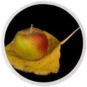 Apple Harvest Autumn Leaf Round Beach Towel
